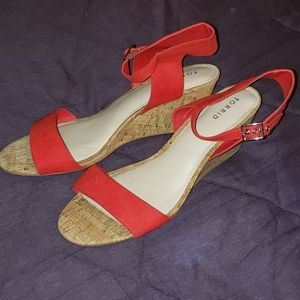 Torrid strapped heel sandles size 12w